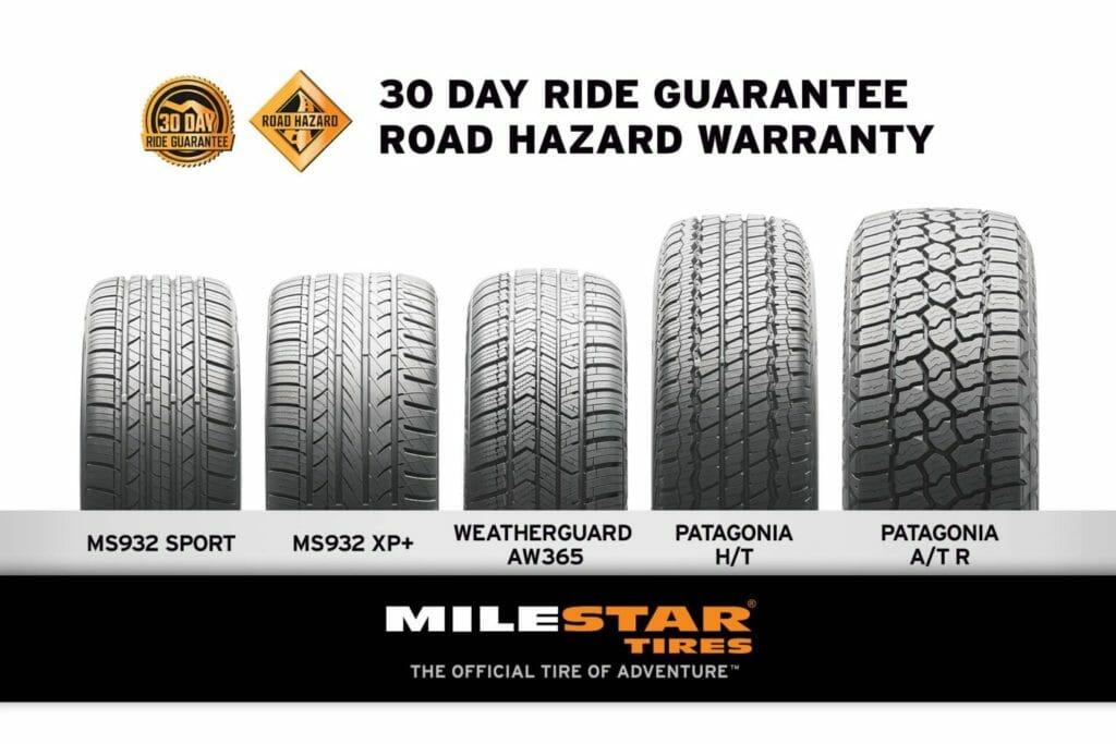 milestar 30 day ride guarantee and road hazard