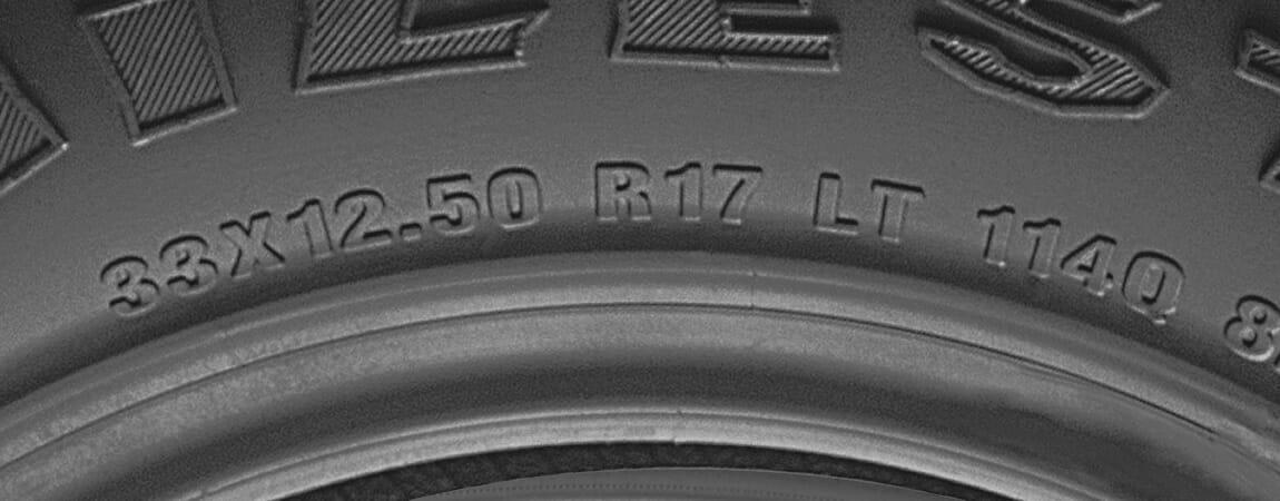 example light truck tire specifications in flotation format