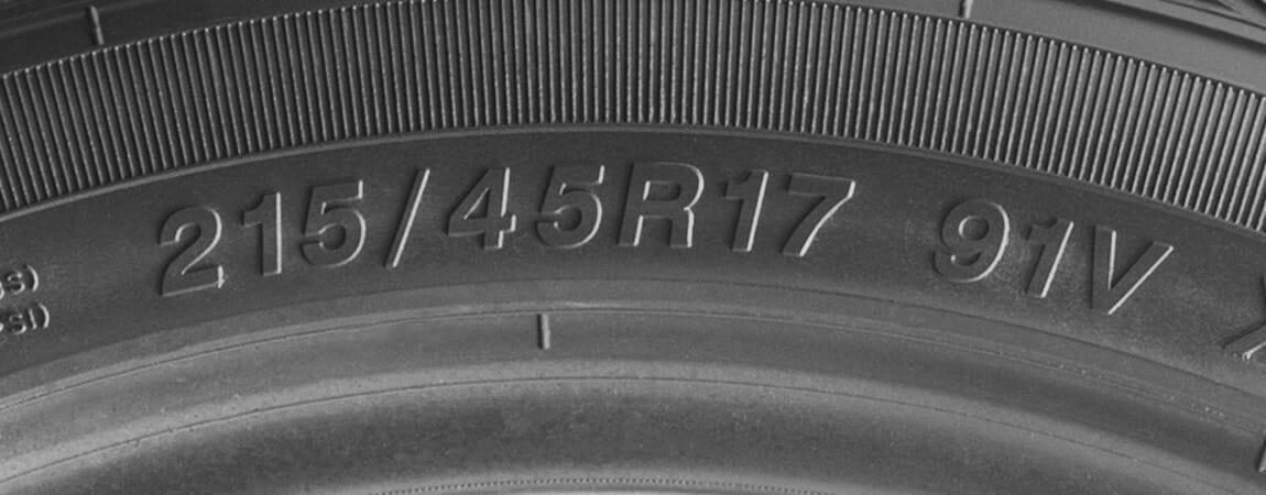 example passenger tire sizing in p metric or European Metric format